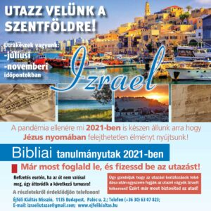 Izraeli utazás 2021